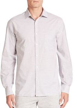 Billy Reid Long Sleeve Striped Button-Down Shirt