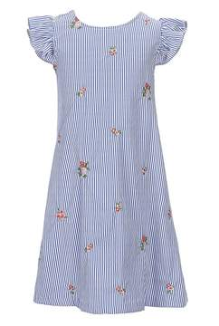 Bonnie Jean Big Girls 7-16 Pinstripe Flutter-Sleeve Dress