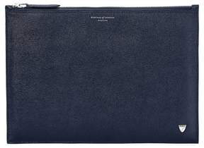 Aspinal of London Mount Street Flat Pouch In Smooth Topaz