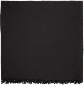 Rick Owens Black Wool Scarf