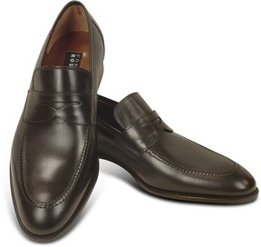 Fratelli Rossetti Dark Brown Calf Leather Penny Loafer Shoes