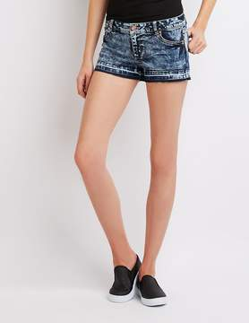 Charlotte Russe Mid-Rise Denim Shorts