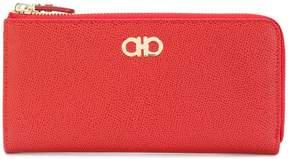 Salvatore Ferragamo calf leather zip purse