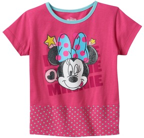 Disney Disney's Minnie Mouse Toddler Girl Mixed Media Graphic Tee