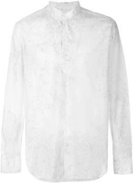 Ann Demeulemeester Grise letter print band collar shirt
