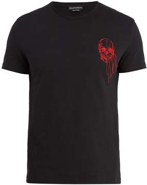 Alexander McQueen Embroidered-skull cotton T-shirt