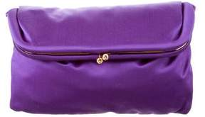 Giorgio Armani Satin Fold-Over Clutch