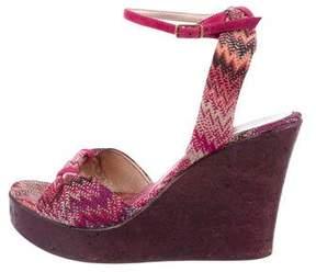 Missoni Chevron Wedge Sandals