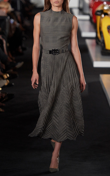 Ralph Lauren Louise Pleated Dress