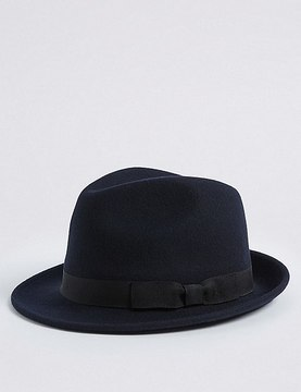 Marks and Spencer Pure Wool Felt Trilby Hat