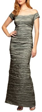 Alex Evenings Women's Taffeta Mermaid Gown