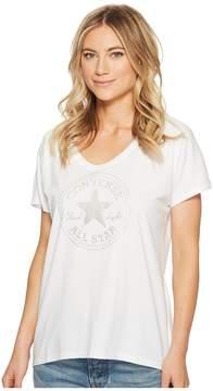 Converse Metallic Speckled Print CP Fill Femme Tee Women's T Shirt