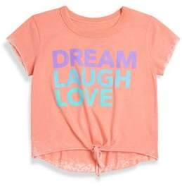 Chaser Toddler's, Little Girl's & Girl's Dream, Laugh, Love Vintage Jersey Tee