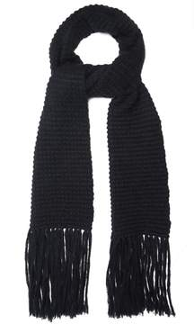 Stella McCartney Fringed wool and mohair-blend scarf
