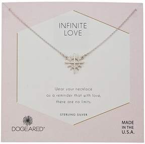 Dogeared Infinite Love, Cross with Rays Charm Necklace Necklace