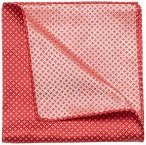 Armani Collezioni Men's Geometric Silk Handkerchief