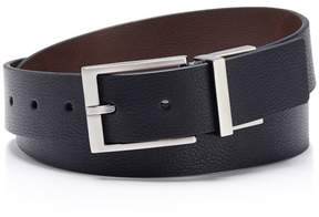 Calvin Klein reversible grid texture + solid belt