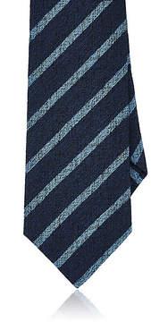 Isaia Men's Striped Silk-Wool Seven-Fold Necktie