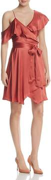 WAYF Rachelle Satin One-Shoulder Wrap Dress - 100% Exclusive