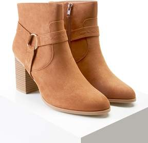 Forever 21 Embroidered Faux Suede Boots
