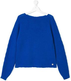 Simonetta knitted long sleeve sweater