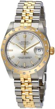 Rolex Datejust 31 Silver Dial Ladies Stainless Steel and 18kt Yellow Gold Jubilee Watch