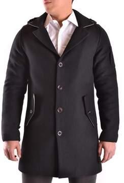Geospirit Men's Black Wool Coat.