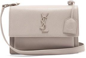 Saint Laurent Sunset medium leather cross-body bag - LIGHT GREY - STYLE