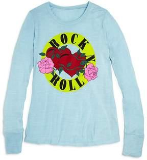 Flowers by Zoe Girls' Rock N Roll Tee - Big Kid