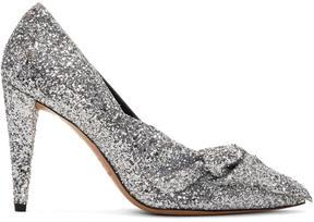 Isabel Marant Silver Glitter Poetty Heels