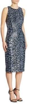 Carmen Marc Valvo Sleeveless Sequin Dress