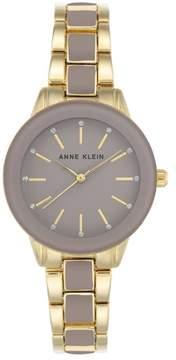 Anne Klein Goldtone Glossy Gray Dial Bracelet Watch