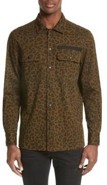 Ovadia & Sons Men's Parachuters Leopard Print Shirt