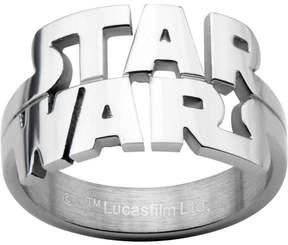 Star Wars Men's Stainless Steel Cutout Logo Ring