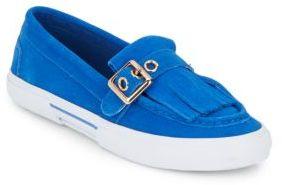 Isaac Mizrahi Monroe Fringed Suede Sneakers