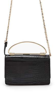 Forever 21 Faux Croc Leather Handbag