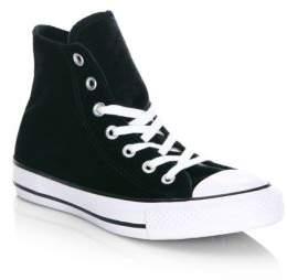 Converse Velvet High-Top Sneakers