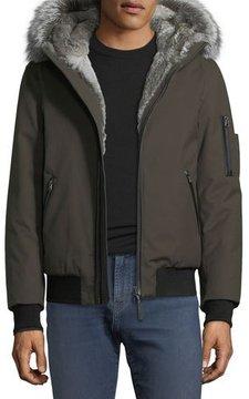 Mackage Fur-Lined Parka Bomber Jacket
