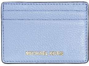 Michael Kors Money Pieces Leather Card Holder- Pale Blue - ONE COLOR - STYLE