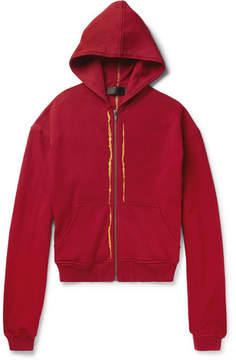 Haider Ackermann Perth Embroidered Loopback Cotton-Jersey Hoodie
