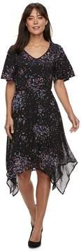 Elle Women's Print Handkerchief-Hem Dress