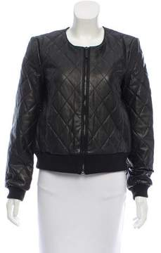 DKNY Quilted Leather Jacket w/ Tags