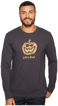 Life is Good Jack O Lantern Long Sleeve Crusher Tee Men's Long Sleeve Pullover
