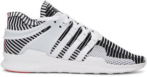 adidas White and Black Equipment Support ADV PK Sneakers