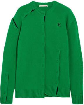 Christopher Kane Velcro-trimmed Wool Sweater - Green