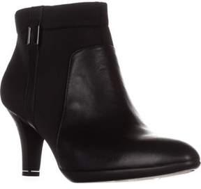 Alfani A35 Venah Side Zip Booties, Black.