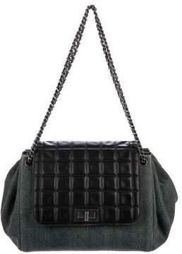 Chanel Denim Chocolate Bar Accordion Flap Bag