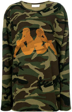 Faith Connexion long sleeved camouflage sweatshirt