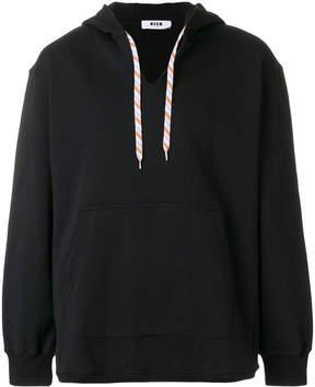 MSGM V-neck hoodie