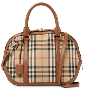 Burberry Orchard Horseferry Check Small Satchel - HONEY - STYLE